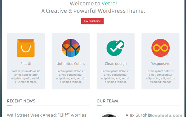 vetro-flat-ui-wordpress-theme