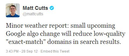 google ranking factors cutts